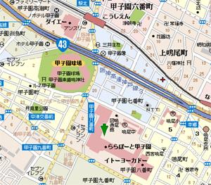 キッザニア甲子園の大阪地図
