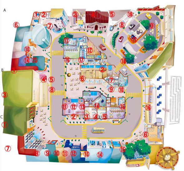 キッザニア東京 パビリオンmap 1階 kidzania キッザニア東京